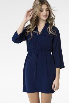Royal blue tunic dress - Dresses - Clothing