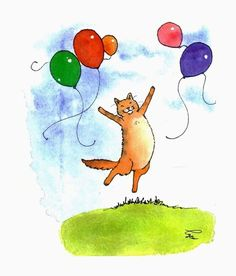 Cats Cat  Card Cat Art Funny Cat Greeting Card by tylersworkshop, $3.50