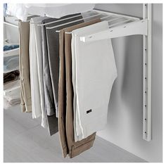 IKEA - ALGOT Wall upright/rod/shoe organizer white