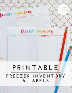 Organizing the Freezer (with Printable Freezer Inventory & Labels Get my quick and easy tips for organizing the freezer, including how to use FREE printable freezer inventory and labels! Printable Labels, Printable Quotes, Printable Planner, Free Printables, Labels Free, Deep Freezer Organization, Organization Lists, Organizing Labels, Organization Station