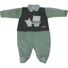Macacão Bebê Menino em Plush e Tricot Verde - Sonho Mágico :: 764 Kids | Roupa bebê e infantil