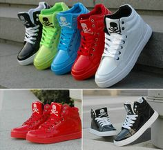 Womens High-Heel Boots Candy Color Cute Skull Shoes Hip-hop Sport Shoes Sneakers #unbranded #boots