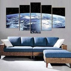 Planet Earth Multi Panel Canvas Wall Art