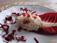 Risotto melograno taleggio e radicchio #ricette #food #recipes