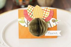 Turkey Place Cards by Laura Silva for We R Memory Keepers Hosting Thanksgiving, Thanksgiving Table, Thankful Heart, We R Memory Keepers, Mom And Grandma, Place Cards, Turkey, Fun, Turkey Country