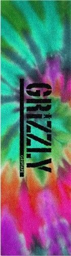 Grizzly Single Sheet Stamp Reverse Tie Dye Grip, Multi