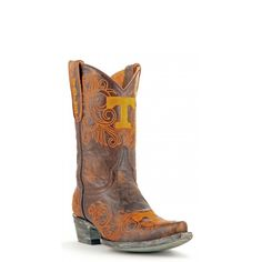 """Gameday Boots 10"""" Leather University Of Tennessee Cowboy Boots"""