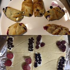 Fruit in a blanket. I live pills bury crescent rolls! Don't forget the cream cheese! And cinnamon optional.