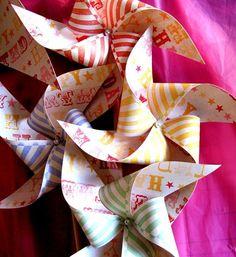 circus or carnival wedding pinwheels