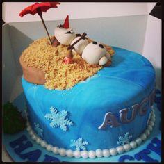 Frozen Olaf birthday cake by zafiel's cakes