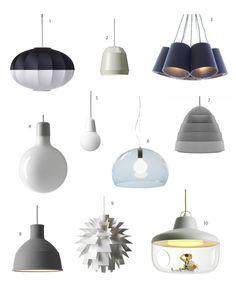 Pendant lights / Designová závěsná svítidla