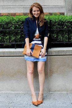 blazer over a summer dress for fall