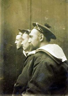 Three French sailors - possibly late 19th Century