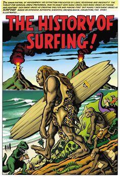history of surfing, surf art