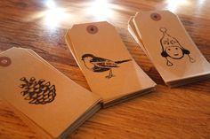 Handmade Xmas gift tag