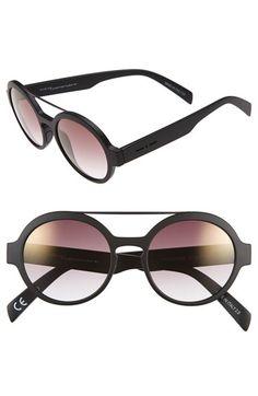 Italia Independent 51mm Round Sunglasses