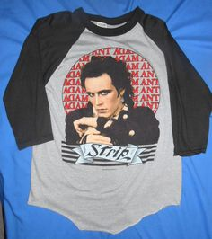 dfe76c2f 3/4 Sleeve Regular Unisex 1980s Vintage T-Shirts for Men | eBay. Adam  AntShirt ...
