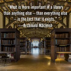 What is more important in a library...