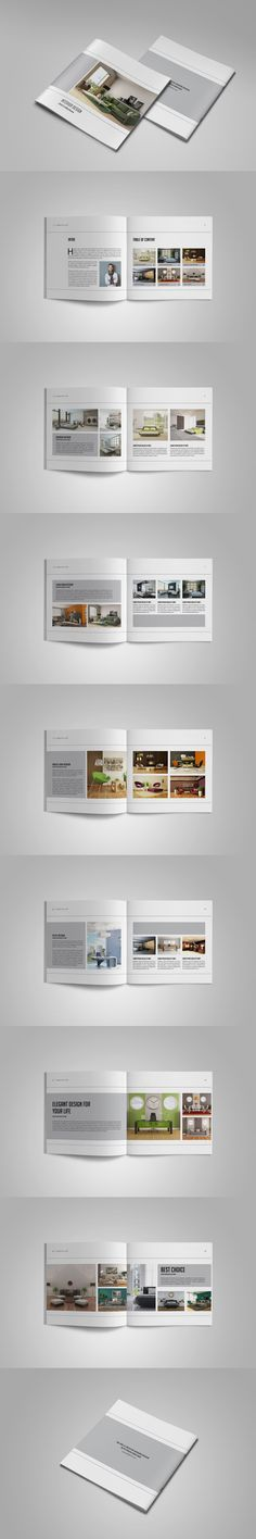 Annual Report Brochure Template Indesign Indd 28 Pages Annual