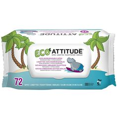Buy Attitude Eco Baby 100% Biodegradable Wipes, Unscented - 72 ea | Clean your babys bottom and maintain naturally healthy skin. myotcstore.com - Ezy Shopping, Low Prices & Fast Shipping.