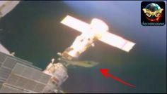 NASA footage of UFO docked at International Space Station and Soyuz