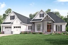 Craftsman Style House Plan - 3 Beds 2 Baths 2073 Sq/Ft Plan #430-157 Exterior - Front Elevation - Houseplans.com