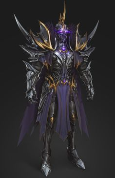 Character And Setting, Fantasy Character Design, Character Art, Dark Warrior, Shadow Warrior, Fantasy Armor, Dark Fantasy Art, Devaint Art, Space Ship Concept Art