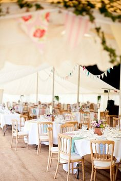 Summer Garden Reception Tables #summer #wedding #garden