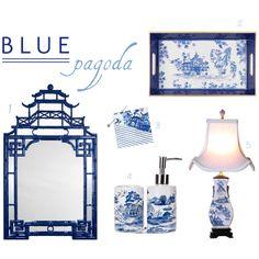 MadeByGirl: Design: Blue Pagoda