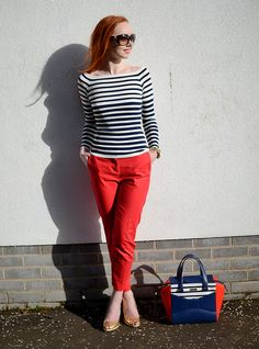 Forever Amber wears Boden Bistro Crop Trousers. March 2015.