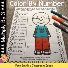 This 3rd Grade Go Math 4.3 Color By Number Multiply With 3 Resource includes 6 pages for introducing or reviewing multiplication by focusing only on Multiplying By Three. You will love the no prep, print and go ease of these six Multiply With 3 Color By Number printables. Class Activities, Math Resources, Reading Centers, Math Centers, Independent Student, Multiplication Activities, Go Math, Classroom Management Tips, Printable Numbers