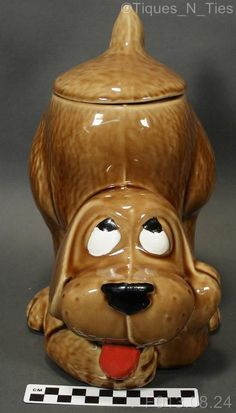Vintage McCoy Pottery Thinking Dog Cookie Jar