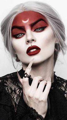 Halloween makeup ideas that are creepy, creepy and devilish . - Halloween makeup ideas that are creepy, creepy and devilish …, - makeup clown cute Makeup Clown, Witch Makeup, Costume Makeup, Makeup Art, Makeup Ideas, Red Hair Costume, Creepy Makeup, Drag Makeup, Eye Makeup