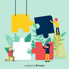 Puzzle Logo, Kindergarten Design, Puzzle Pieces, Creative Design, Graphic Art, Iphone Wallpaper, Cartoon, Poster, Teamwork Logo