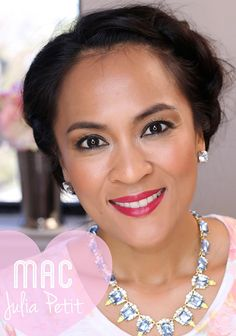 Wearing Petite Red Lipstick from the new MAC Julia Petit collection coming March 12 to the MAC website and March 18 to MAC stores and counters