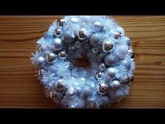 Jana Melas Pullmannová: Venček z girlandy a vianočných gúľ Christmas Balls, Christmas Wreaths, Ornament Wreath, Ornaments, Garlands, Holiday Decor, Youtube, Home Decor, Christmas Baubles