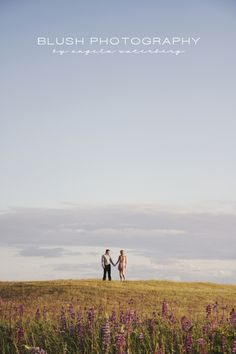 Vancouver Wedding and Engagement Photography Studio. Tall grass and negative space photography.  http://www.photosbyblush.com/blog/