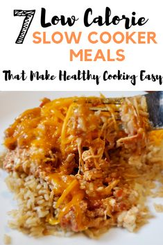7 low calorie slow cooker meals that make healthy cooking easy. Quick and easy dinner recipes you can throw together in a snap! 7 low calorie slow cooker meals that make healthy cooking easy. Quick and easy dinner recipes you can throw together in a snap! Easy Low Calorie Dinners, Healthy Low Calorie Meals, Healthy Slow Cooker, No Calorie Foods, Healthy Crockpot Recipes, Slow Cooker Recipes, Liw Calorie Meals, Low Calorie Low Fat Recipes, Slow Cooker Meal Prep