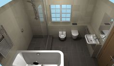 A design for a luxury master bath and wetroom created by Room H2o New Malden