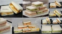 Five types of delicious sandwiches or sandwiches for a perfect party, rec . - Five types of delicious sandwiches or sandwiches for a perfect party, step by step recipe - Delicious Sandwiches, Tea Sandwiches, Specialty Sandwiches, Brunch, Tasty, Yummy Food, Latin Food, Sandwich Recipes, Appetizers For Party