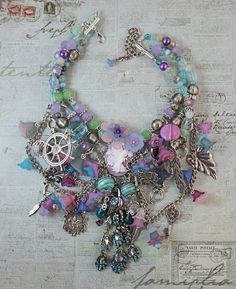 Fairy Necklace Found Objects Jewelry от AngelaVenableArt на Etsy