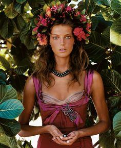 @VogueMagazine® Liana Satenstein, In Ukraine, That Flower Crown Means More Than You Think, Vogue Magazine ©Feb 5, 2016, Link from Ukrainian Dance World