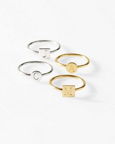 These Sarah Chloe Personalized Rings are a great self-gift or present for a favorite girlfriend. Wear solo, stacked, or mixed with other rings.