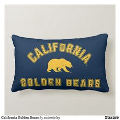 Shop California Golden Bears Lumbar Pillow created by ucberkeley. Lumbar Pillow, Bed Pillows, California Golden Bears, The Big C, Custom Pillows, Nike Men, Stitches, Pillows, Stitching