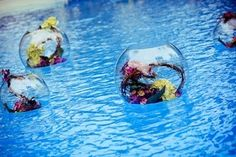 Dove-wedding Decor-floating-fishbowls-with-vines