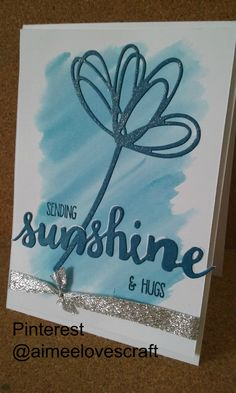 Card designed made using Dapper Denim from the 2016-2018 Stampin Up in colours…