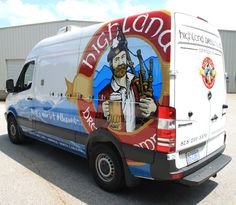 Sprinter van wrap for Highland Brewing. Mmm, I'm thirsty for a brewsky!