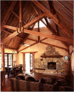 cob and timber house - grand interior