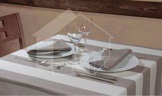 table cloth in stripes? Stripes, Paris, Table, Design, Restaurant, Montmartre Paris, Paris France, Tables