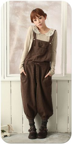 Mori girl style - fall / winter style inspiration. The jumpsuit my best friend hates.